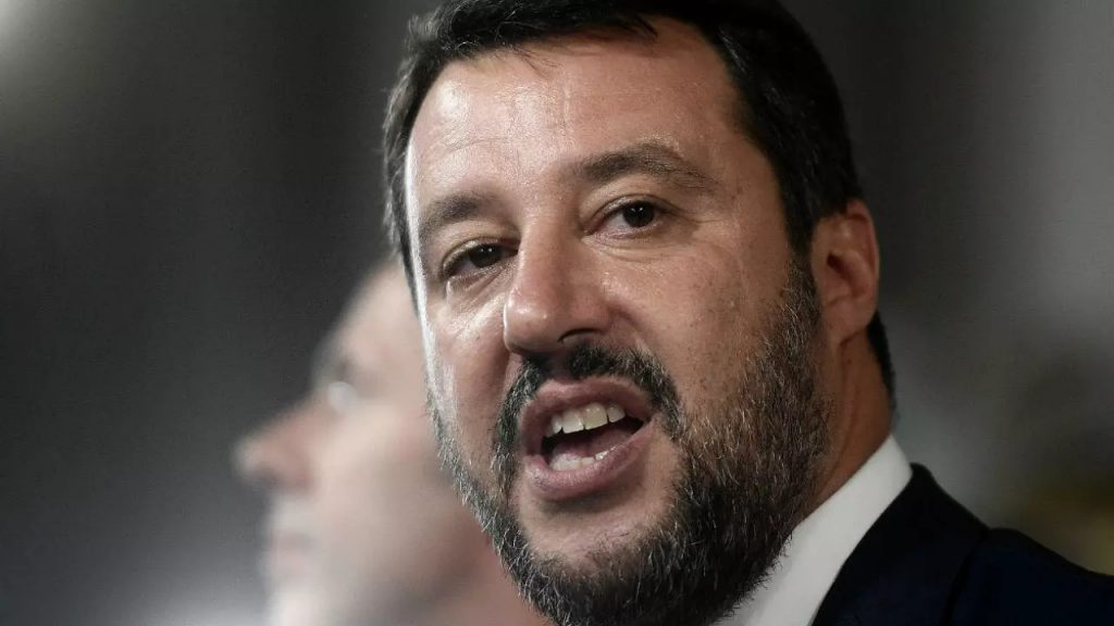 Filippo Monteforte AFP | Head of the Lega Nord (Northern League) party and outgoing Interior Minister Matteo Salvini addresses the media following a meeting with the Italian president at the Quirinal presidential palace in Rome on August 28.