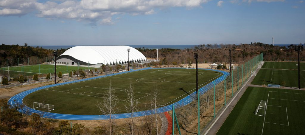 View of J-Village training center where torch relay of the Tokyo 2020 Olympic Games is set to begin in Naraha ok