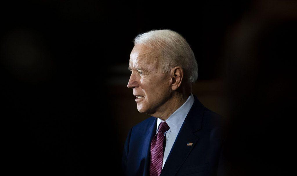 Former vice president Joe Biden speaks at an event in Flint, Mich., in March. MUST CREDIT: Washington Post photo by Carolyn Van Houten.