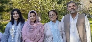 Yumna Afzaal, 15, left, Madiha Salman, 44, centr left, Talat Afzaal, 74, and Salman Afzaal, 46, right, were out for an evening walk when they were run over. The youngest member of the fmaily, Fayez, 9, was the lone survivor of the attack. Nathaniel Veltman, 20, was charged with four counts of first-degree murder following the alleged vehicle attack.