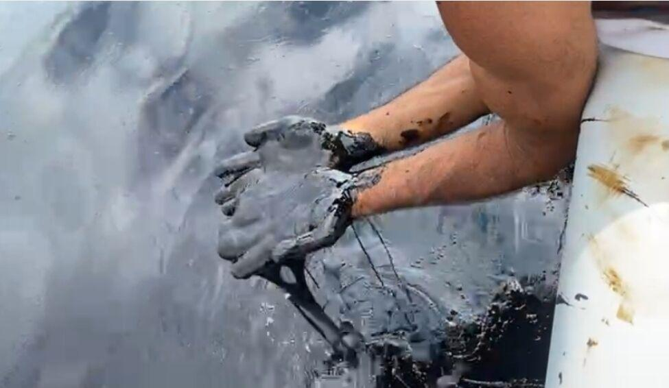 Oil spill in the Gulf of Paria by Paria Fuel Trading Company