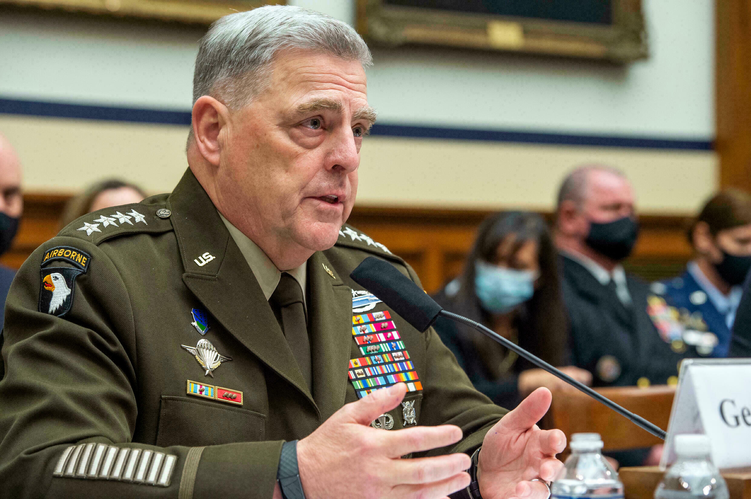 afghanistan retreat General Mark Milley, chairman of the US Joint Chiefs of Staff, conceded in a stark admission that the US 'lost' the war in Afghanistan POOL GETTY IMAGES AFP
